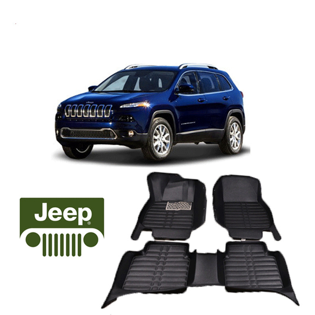 Fast Shipping Waterproof Fiber Leather Car Floor Mat Carpet Rug For