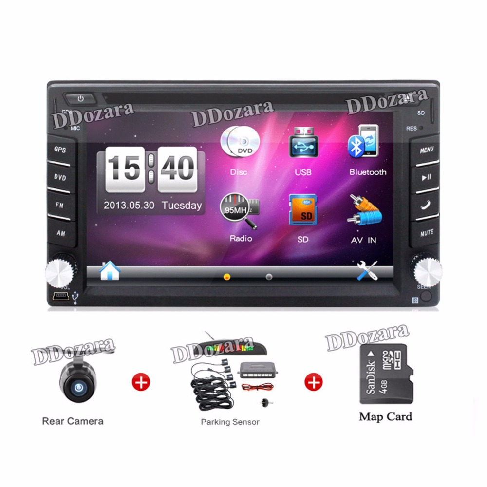 Здесь продается  2 din Car Radio Double 2 din Car DVD Player GPS Navigation map In dash Car PC Stereo video+Free Map+ Camera Parking sensor  Автомобили и Мотоциклы