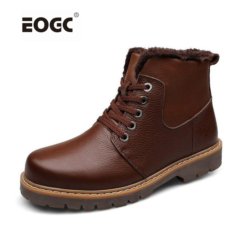 Natural Leather Men Boots Handmade Super Warm Winter Shoes Plus Size Ankle Snow Boots Plush Winter Shoes Men hdmi sdi to hdmi converter sdi hdmi 3g sd hd sdi 1080p 60 hdmi0032