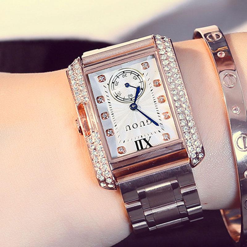 New Luxury Jewelry Ladies Quartz Watch Dress Fashion Casual Women Watches Rhinestone Bracelets Watches relogio feminino relojes relojes mujer new fashion watches women dress bracelets quartz watch kadin izle ladies wristwatch relogio feminino montre femmes