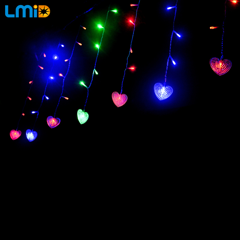 LMID 4M * 0.6M 120beds Fairy String Icicle Led Curtain Light Ашық - Мерекелік жарықтандыру - фото 6