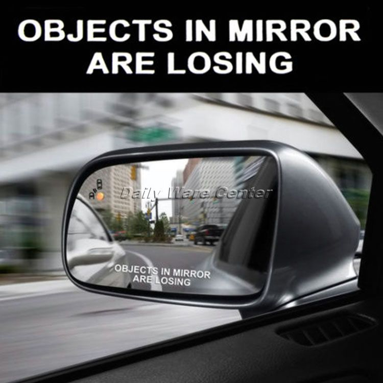 Car Styling Word OBJECTS IN MIRROR ARE LOSING SET Car Sticker for Door Window Laptop Decal on Cars Motorcycle Decorate Accessory