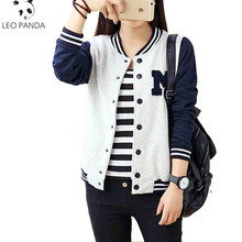 New Autumn Clothing Women All-Match Sweatshirt Outerwear Baseball Uniform Jacket Female Preppy Style College Bomber Jacket LCY18(China)