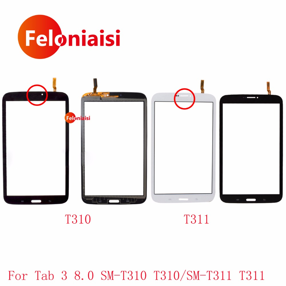 8.0 For Samsung Galaxy Tab 3 8.0 SM-T310 T310 and SM-T311 T311 Touch Screen Digitizer Sensor Front Outer Glass Lens Panel