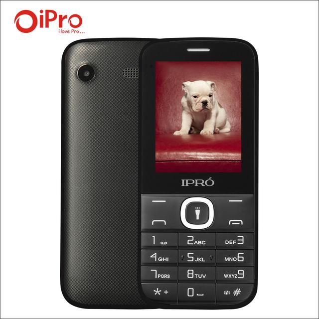 IPRO Original Teclado Grande 2.4 pulgadas Teléfono Celular Dual SIM Teléfono Del Teléfono para Las Personas Mayores Con Inglés Portugués Español