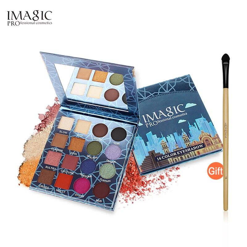 IMAGIC ombre à paupières Palette De Maquillage 16 Couleurs Étanche Fard À Paupières Professionnel Cosmétiques