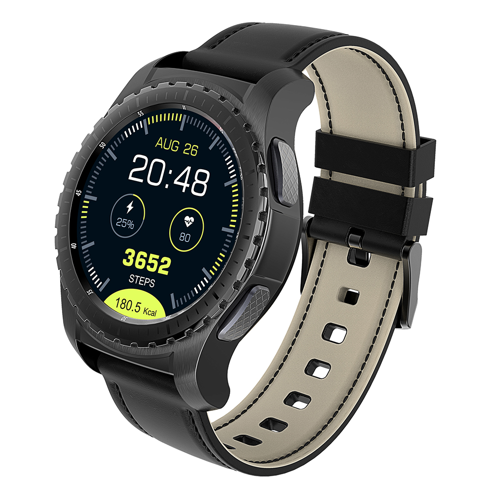 KingWear KW28 Smartwatch Telefone 1.3 polegada Sedentário Monitor de Freqüência Cardíaca Lembrete Anti-perdido Remoto Câmera