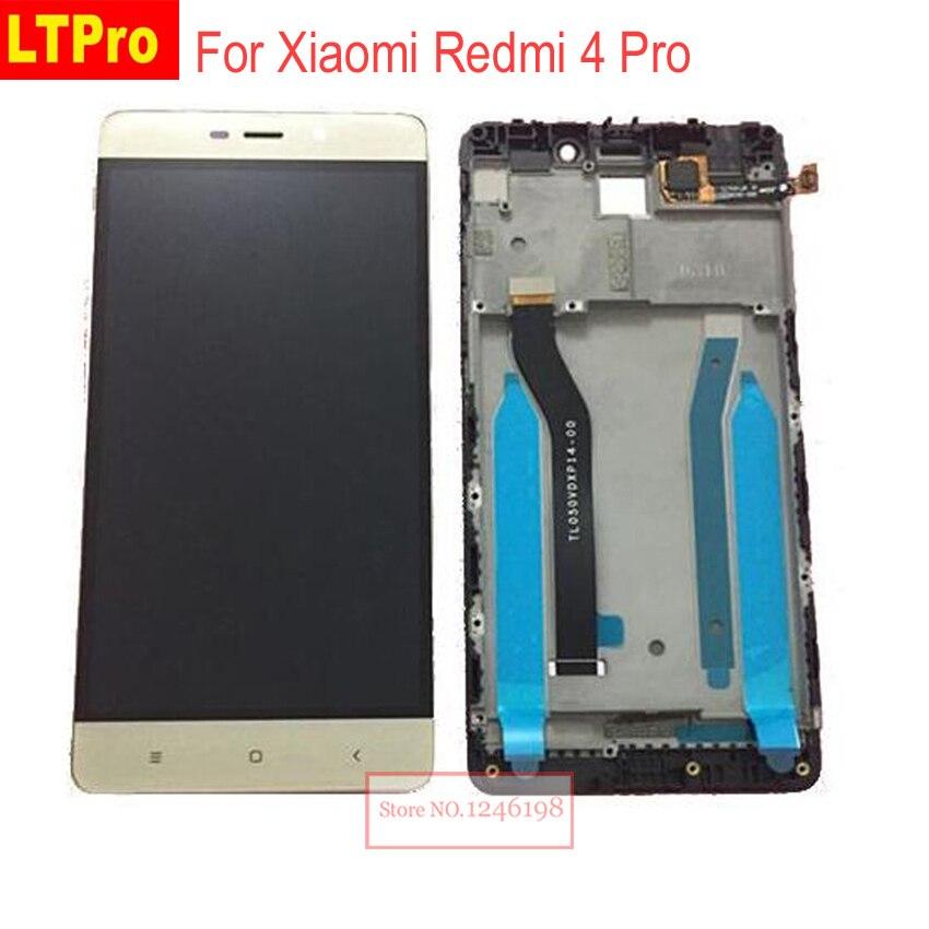 LTPro Schwarz Gold Weiß Voll LCD Display Touchscreen Digitizer Montage mit rahmen Für Xiaomi Redmi 4 Pro ROM-32G Ersatz