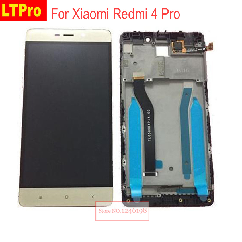 LTPro Nero Oro Bianco Pieno Display LCD Touch Screen Digitizer Assembly con frame Per Xiaomi Redmi 4 Pro ROM-32G Sostituzione