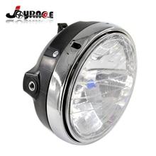 Custom Front Motorcycle Round Chrome Halogen Headlight MOTO Refit Lamp For Honda CB400 CB500 CB1300 VTR250 CB 250 VTEC400  dot sae e9 approved 7inch round headlight with halo ring for honda cb500 cb1300 hornet250