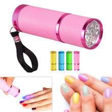 Mini UV Gel Curing Lamp Portability Nail Dryer LED Flashlight Currency Detector