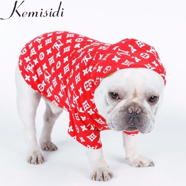2018 New Print Dog Clothes for Small Dogs French Bulldog Hoodies Chihuahua Coat Jacket for Puppy Cat Dog Costume Apparel XS-FB