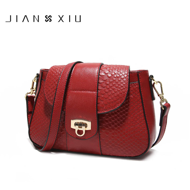JIANXIU Brand Fashion Women Messenger Bags Sac a Main Genuine Leather Handbag Bolsa Bolsas Feminina Shoulder Crossbody Small Bag jianxiu brand fashion women leather handbags crocodile pattern messenger bags sac a main small shoulder crossbody bag chain tote