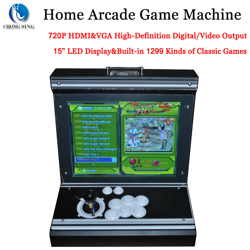 Portable Exhibition Games : Portable video game console quot led display home arcade
