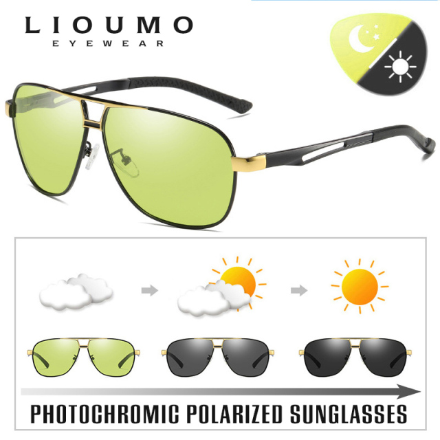 Day Night Intelligent Photochromic Polarized Driving Sunglasses for Men Women Safety Driving UV400 Sun Glasses 3