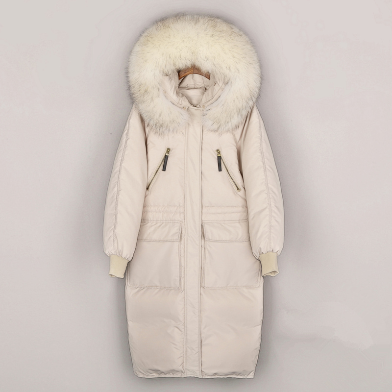 Women's Winter Fashion Jacket Thick Warm Coat Lady Large Fur Cotton   Parka   Jacket Long Coat Winter jacket with hooded Tops