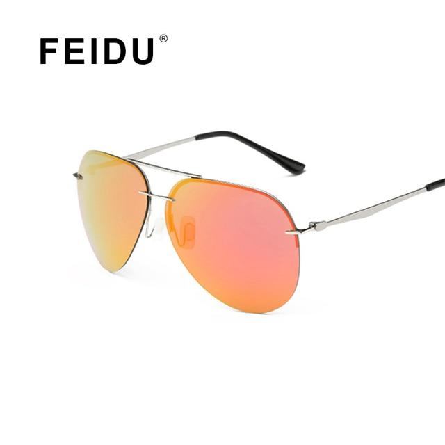 FEIDU Мода Поляризованные Пилотные Солнцезащитные Очки Женщины Рамка Сплава Марка Дизайнер Солнцезащитные очки Для Женщин Feminino Gafas De Sol С Коробкой