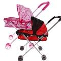 Cute Stroller Toy Dolls Iron Pink Trolley Toy Stroller Pushchair Pram Foldable Girls Toy Doll Pram Dolls Accessories