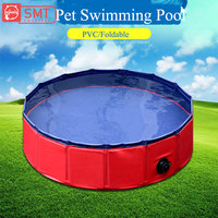 SMARTPET PVC Foldable Pet Dog Cat Swimming Pool PVC Washing Pond Dog Tub Bed Large Small Dog Swimming House Bed Summer Pool|Houses  Kennels & Pens|   -