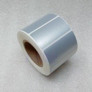 Image 5 - シルバー Pet ラベルステッカー 65*35 ミリメートル 1000 個/ロール防水 Tearproof 耐油製品ラベルシリアル番号固定資産ラベル