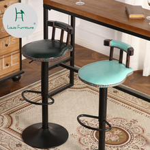 Луи Мода барные стулья модный Творческий поворотный подъемник стенд Высокая ножка Стенд Современный простой Ресторан стул