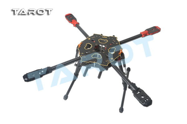 лучшая цена TAROT 650 SPORT Carbon Quad copter Kit with electric retractable landing skids TL65S01