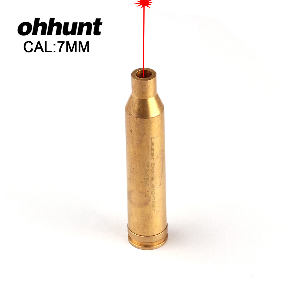 ohhunt Hunting Boresighter CAL 7MM Cartridge Laser Bore Sighter Red Laser Sight Bore Sight For Tactical Riflescope