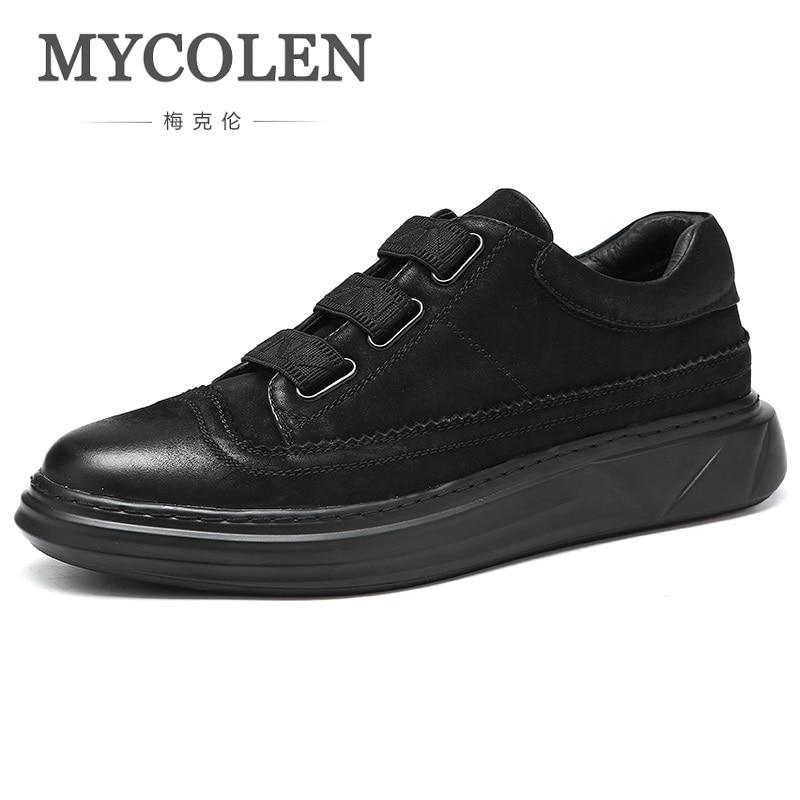 MYCOLEN New Spring/Autumn Men Shoes Breathable Black Casual Shoes Men Fashion Street Style Personality Men Shoes Chaussure 2017 fashion new style spring autumn men casual loose hoodies coat