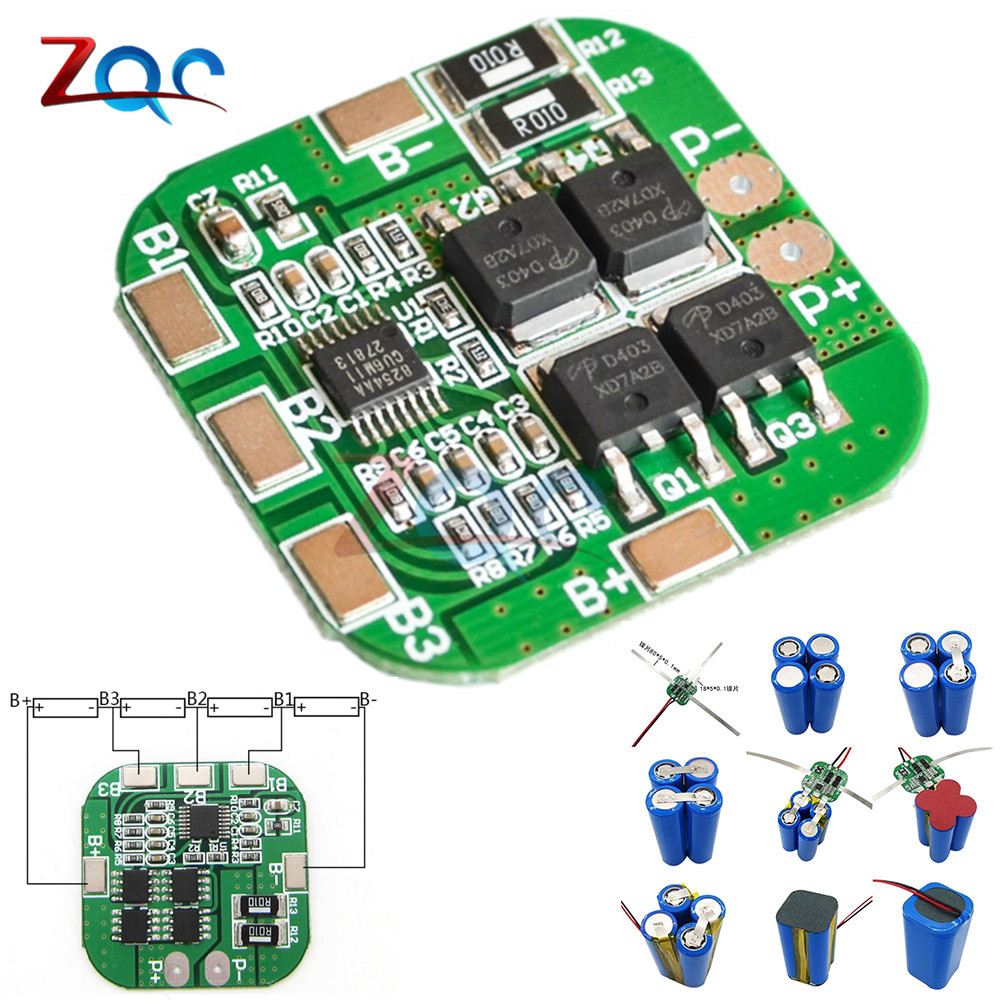 4S 14.8V / 16.8V 20A Peak Li-ion BMS PCM Battery Protection Board BMS PCM for Lithium LicoO2 Limn2O4 18650 LI Battery Module aiyima 2pc 4s 14 8v 12a li ion lithium battery bms 18650 charger protection board module 16 8v overcharge over short circuit