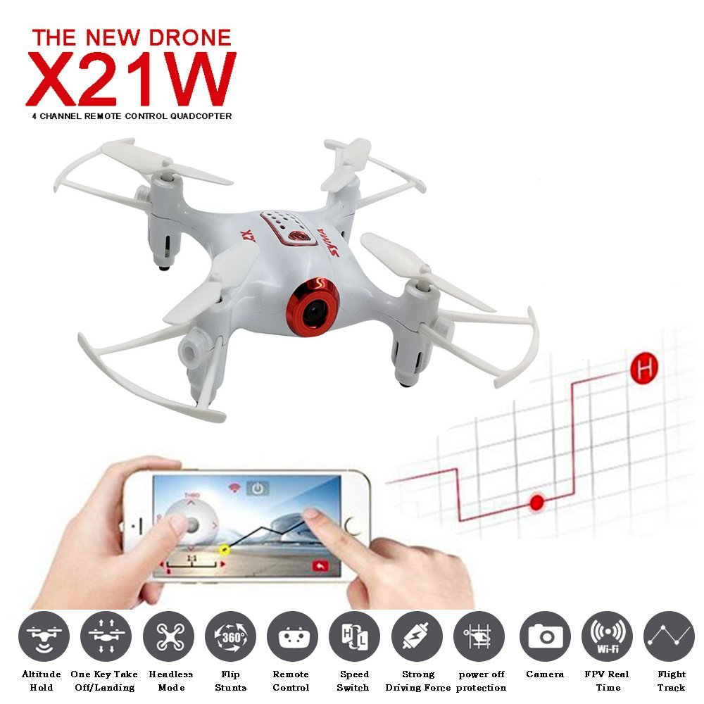 SYMA X21W Mini drone with camera WiFi FPV 720P HD 2.4GHz 4CH 6-axis RC Helicopter Drone Altitude Hold RTF Remote Control Toys mjx x906t mini rc drone 6 axis gyro quadrocopter rc fpv drone helicopter hd camera wifi mando remote control copter toy