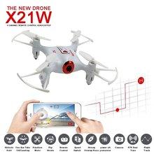 SYMA x21w Mini Дрон с камерой Wi-Fi FPV-системы 720 P HD 2.4 ГГц 4ch 6 оси вертолет Drone высота Удержание RTF Радиоуправляемые игрушки