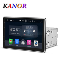 KANOR Android 6.0 1024*600 Octa Core 2G 10.1 inch Dubbele 2 din Auto GPS Dvd-speler Bluetooth Stereo Sat Nav RDS WIFI Multimedia