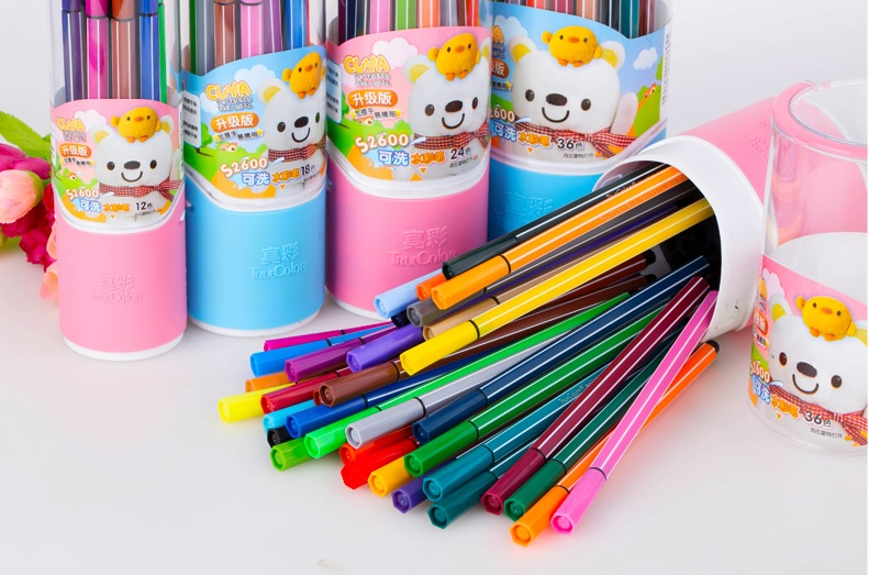 Cute Kawaii Water Color Pen Brush Copic Marker Manga Highlighter Kids Children Painting Stationery Art School Supplies Washable kawaii manga adorable
