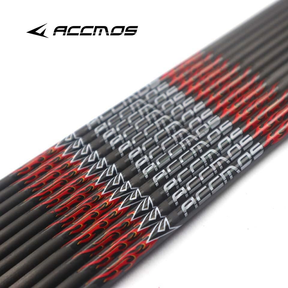 6/12 adet 31 inç kimliği 6.2mm omurga 200 300 340 400 500 600 700 800 saf karbon ok milleri + Nocks DIY ok okçuluk yay avcılık
