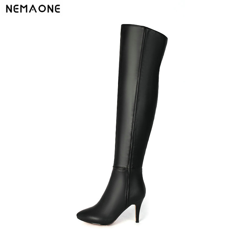NEMAONE Sexy high heels over the knee high women Boots autumn Winter Ladies boots party dancing shoes woman large size 43 new women shoes woman boots large size 33 43 autumn over the knee boots thin high heels shoes sexy party boots