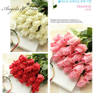 Free Shipping(11pcs/Lot) Fresh Rose Artificial Flowers Real Touch Rose Flowers Home Decorations For Wedding Party Birthday Gifts