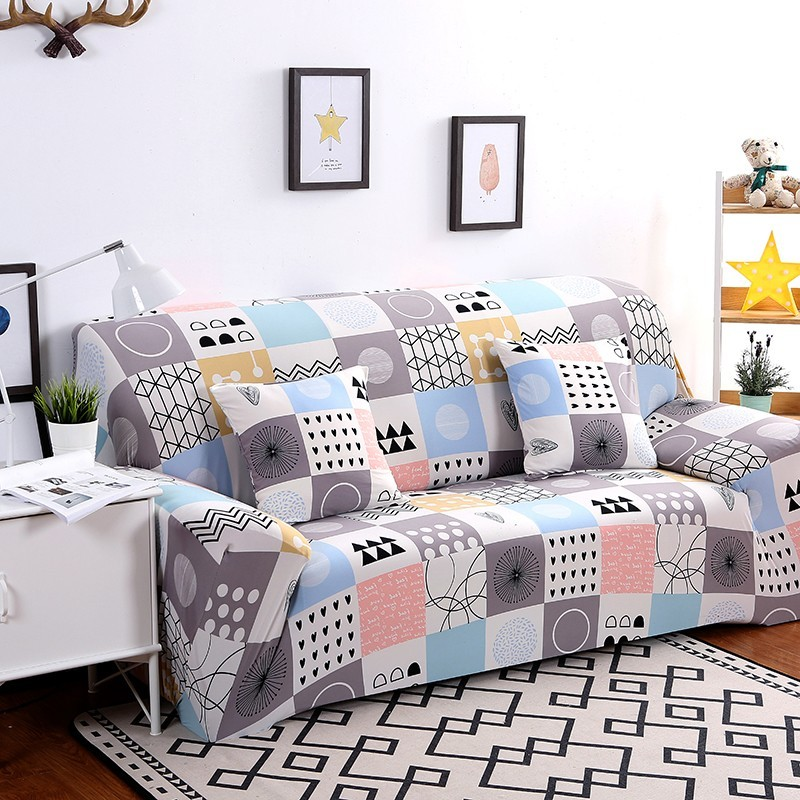 1 2 3 4 Seater Solid Sofa Cover Spandex Modern Elastic Polyester Couch Slipcover Chair Furniture