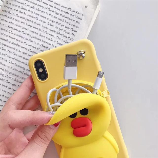 3D stitch silicone Phone cover case.