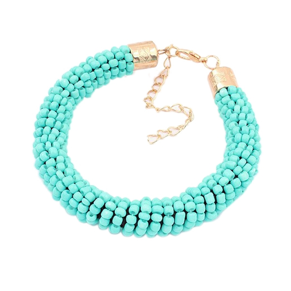 Fashion New Women Bracelet Cylinder Shaped Mini Beads Hand Chain Bracelet
