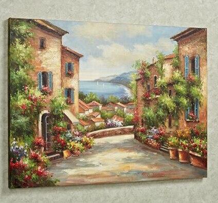 Acquista all 39 ingrosso online toscana pittura di paesaggio for Costo di costruzione moderno della fattoria