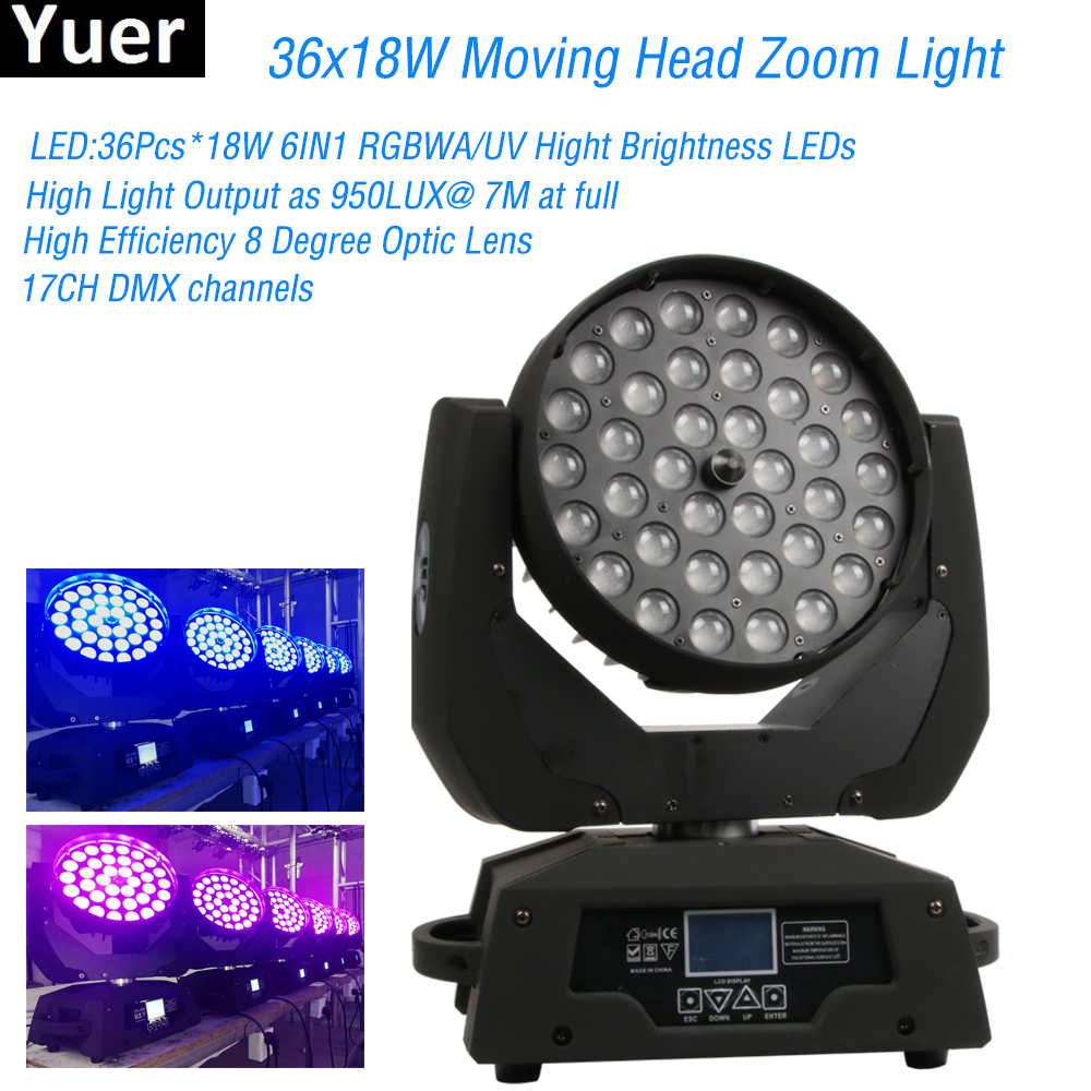 Super Brightness Stage light 36X18W Moving Head Zoom Disco Light 6IN1 RGBWA/UV Hight Brightness LEDs For DJ Club Nightclub PartySuper Brightness Stage light 36X18W Moving Head Zoom Disco Light 6IN1 RGBWA/UV Hight Brightness LEDs For DJ Club Nightclub Party