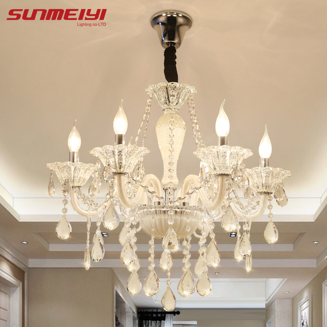 Modern luxury led crystal chandelier ceiling lustre de crystal ball modern luxury led crystal chandelier ceiling lustre de crystal ball pendant hanging lamp home kitchen lighting aloadofball Image collections
