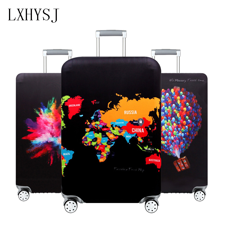 LXHYSJ Elasticity Luggage Protection Covers Luggage Cover Suitable For 18-32 Inch Suitcase Case Baggage Cover Travel Accessories