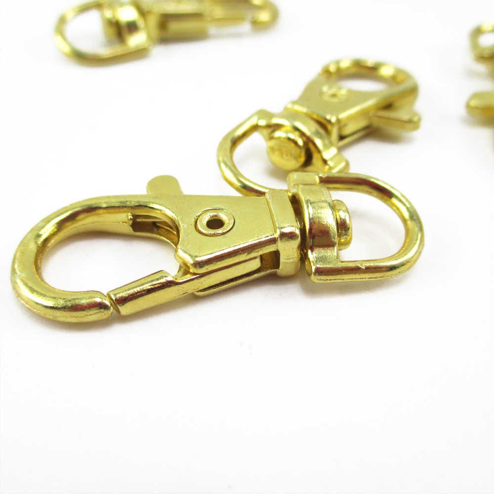 דוד אביזרי זהב כסף לובסטר אבזם קליפים מפתח וו פיצול מפתח טבעת נועלים DIY מחזיקי מפתחות ביצוע, 5Yc4649