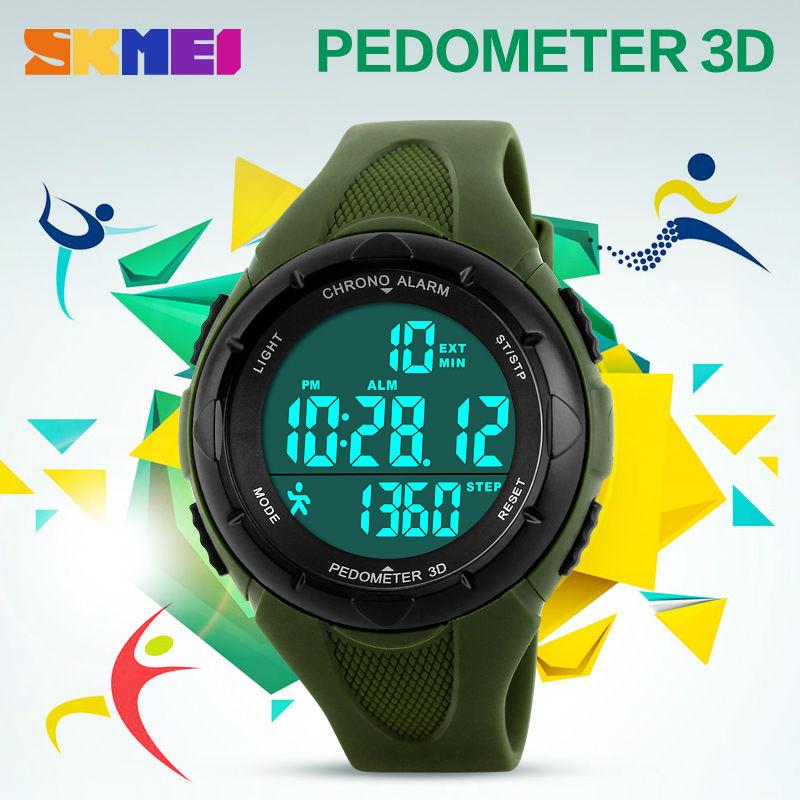 Herrenuhren Skmei Outdoor Sport Uhr Männer Digitale Uhr 5bar Wasserdichte Multifunktions Kompass Mode Uhren Relogio Inteligente 1424 Uhren