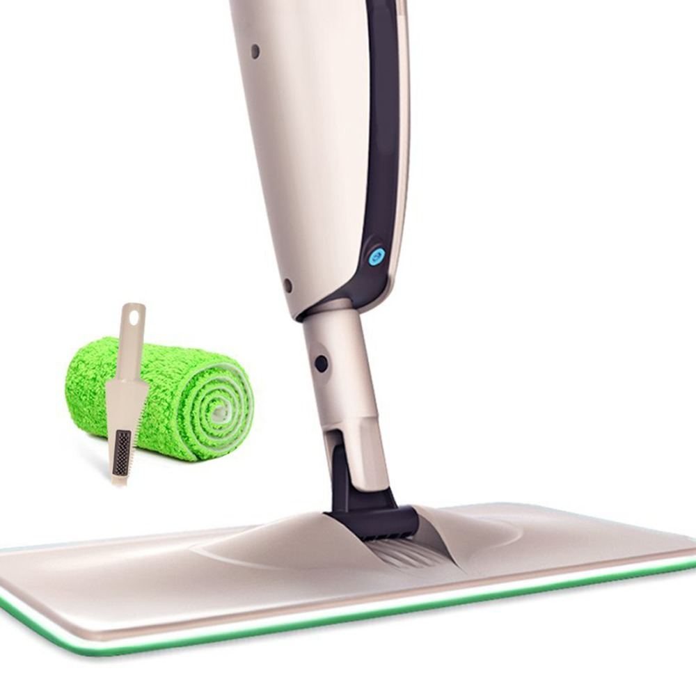2015 hot seller Spray water Mop iron Pole Microfiber 360 degree Multifunction rotate mop Household Floor Cleaning Tools