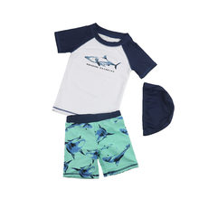 f6745a4587 Toddler Boys Swimsuits for Children Sports Swimwear Sun Protection Rash  Guards Trunks Set Pool Swim Set