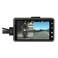 DL18 Motorcycle Recorder Motorcycle DVR Car Mounted Biker Action Video Camera Dash Cam Front Back 3.0LCD Rearview Camera Video