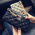 Pu Long Diamond Lattice Wallet Women CasualTassel Hasp Zipper Purse Card Holder Small Fashion Clutches Bag Small Female Carteras