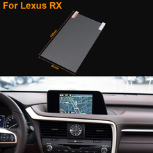 Car Styling 7 Inch GPS Navigation Screen Steel Protective Film For Lexus RX Control of LCD Screen Car Sticker